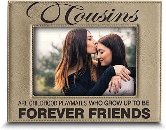 christmas gift Cousin Picture Frame Cousins by chance friends by choice Gift For Cousin holiday gift Cousin Gift Idea