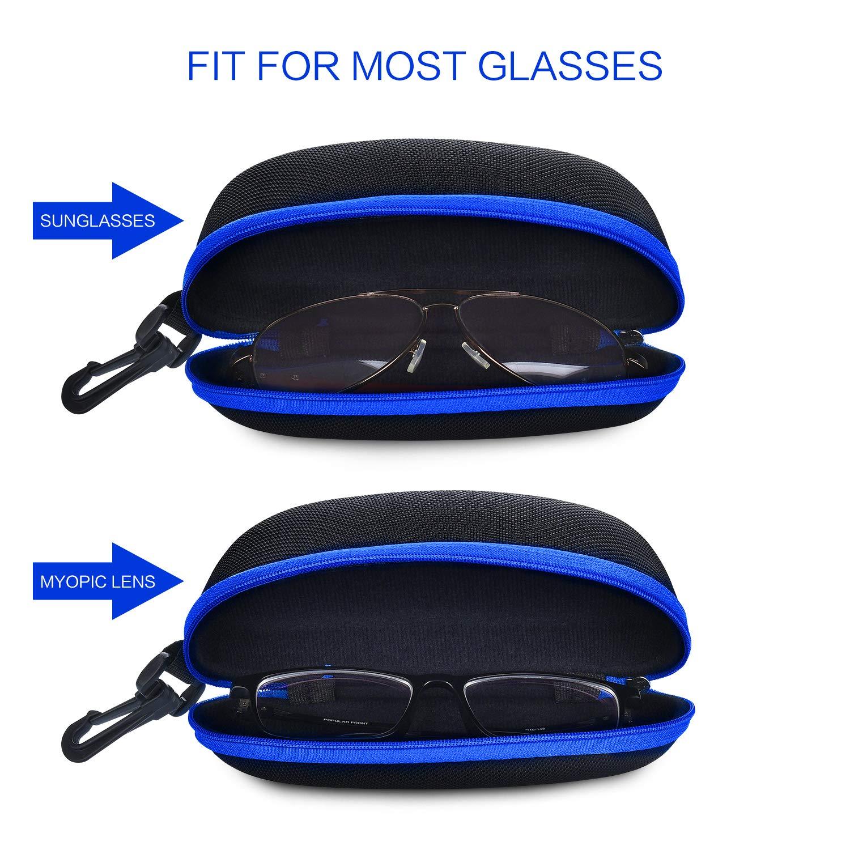 ZZ Sanity Eyeglasses Case Aluminum Hard Shell Side Opened Red