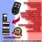 84333EML, 84335EML, 8747EML, Compatible télécommande émetteur pour porte de garage automation, Qualité Supérieure keyfob