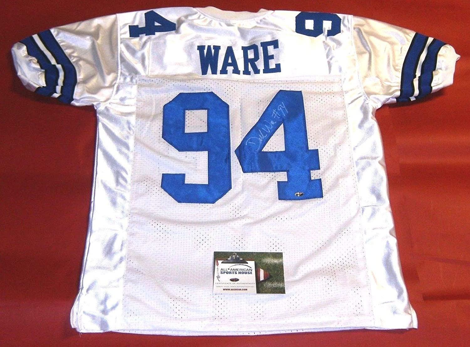 DEMARCUS WARE AUTOGRAPHED DALLAS COWBOYS JERSEY AASH LAST ONE at ...