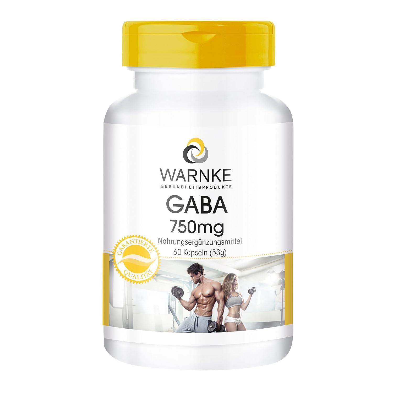 GABA 750mg de Warnke Vitalstoffe - ácido gamma amino butírico - 60 comprimidos: Amazon.es: Salud y cuidado personal