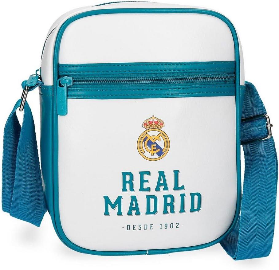 2.34 liters, Blanco 20 cm Real Madrid White Rm Messenger Bag