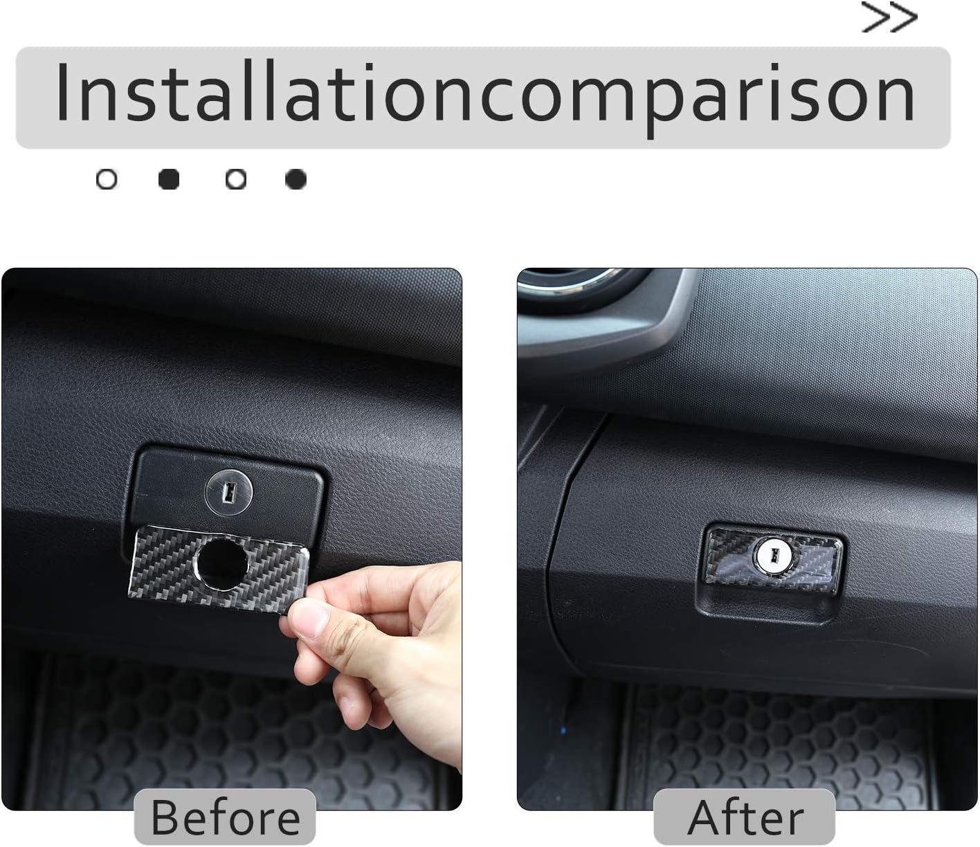 For Toyota Tacoma 2015 2016 2017 2018 2019 2020 Soft Carbon Fiber 3D Sticker Inner Glove Box Handle Buckle Cover Trim Interior Car Accessories
