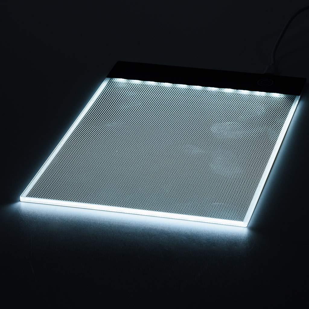 Stufenlose Helligkeitsregelung mit Speicherfunktion 21 x 15.5 x 3.5 cm//8.3 x 6 x 1.4 Gr/ö/ße ASHOP Licht Pad,LED A5 Malerei Kopierbrett Zeichenblock
