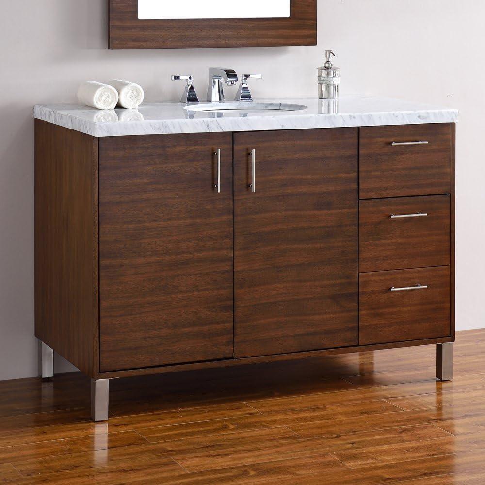48 In Single Vanity In American Walnut Finish Amazon Com