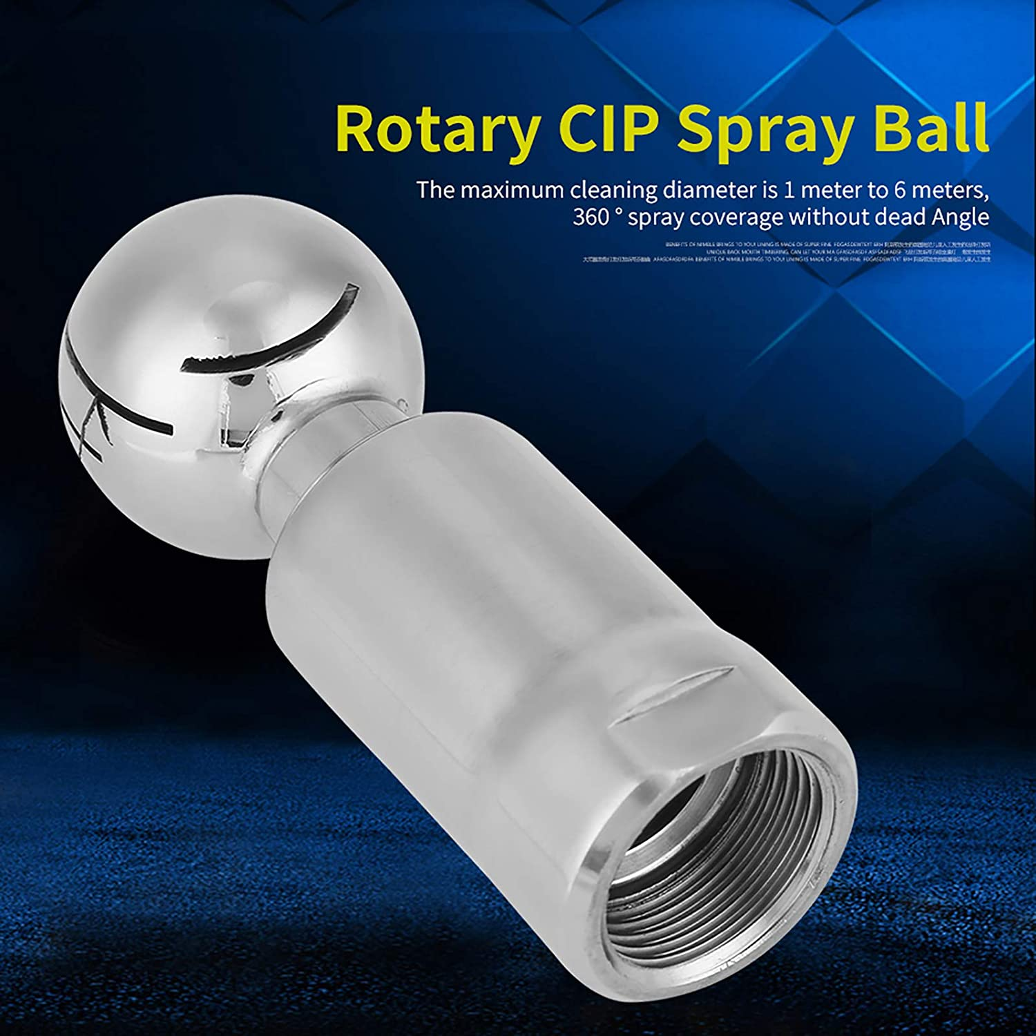 Spray Ball Stainless Steel for Reaction Kettle for Mechanical Equipment Tank Small Size Self-Cleaning