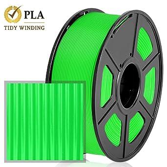 Impresora 3D PLA Filamento, Filamento PLA Verde 1.75mm 1KG, Tidy ...