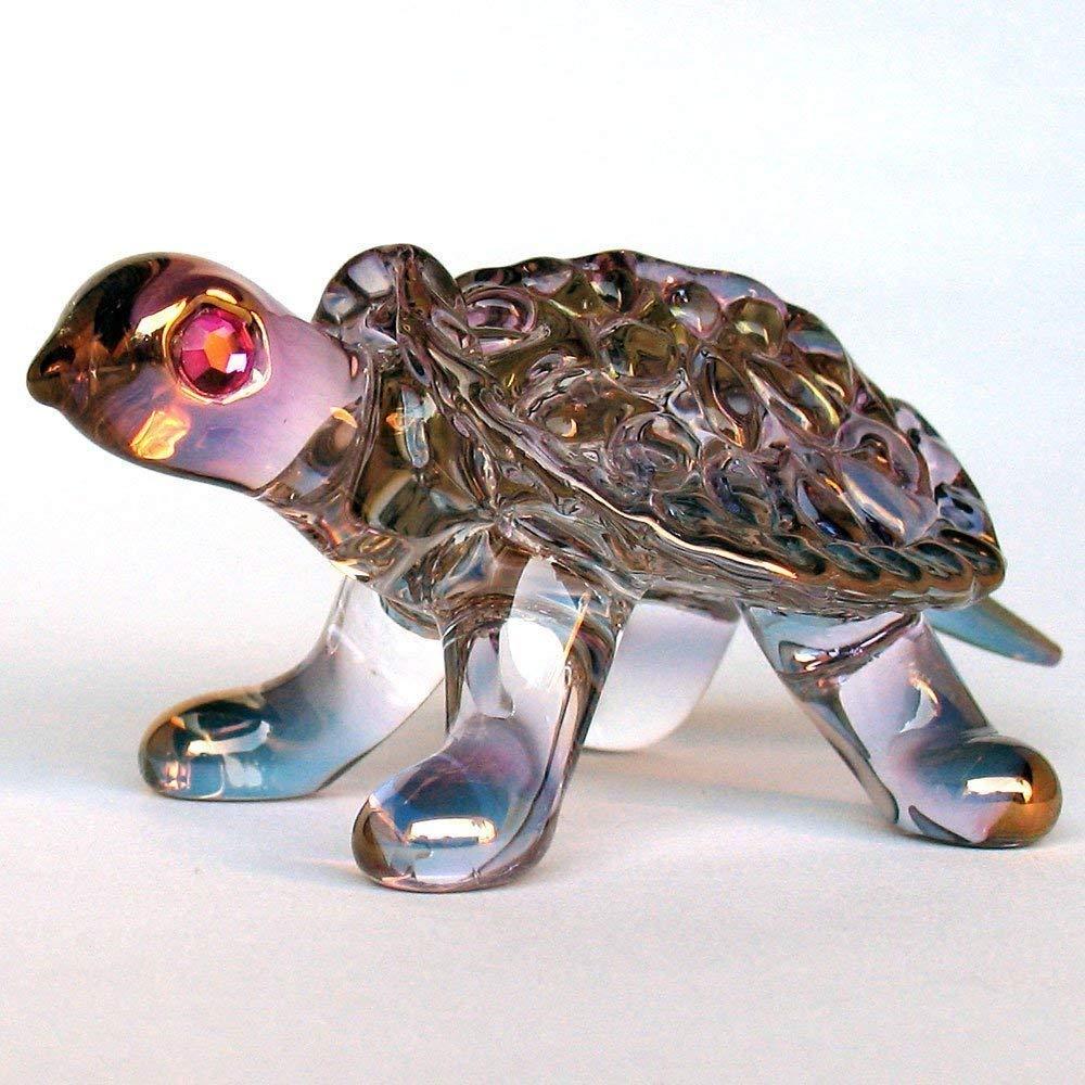 Turtle Tortoise Figurine of Hand Blown Glass