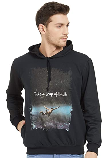 cb582f7aa WYO Men's HD Print Hooded Sweatshirt for Winter Wear(HD Leap of ...