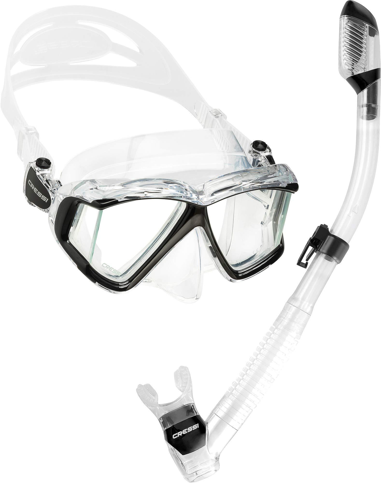 Cressi Pano 4 & Supernova Dry, Clear/Black/Silver