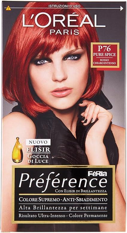 PREFERENCE P76 rosso chiaro intenso - Tintes para el cabello ...