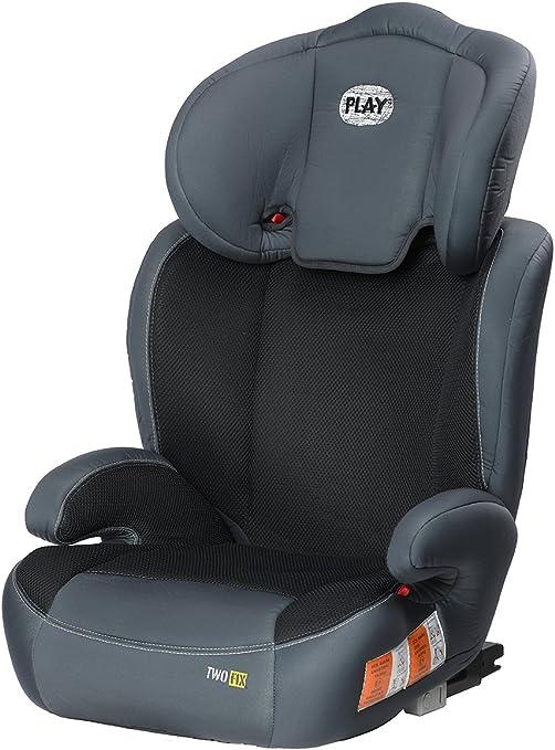 Play Two Fix, Silla de coche grupo 2/3 Isofix, gris/negro: Amazon ...