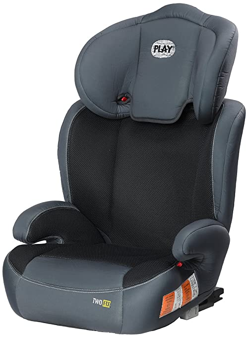Play Two Fix Silla De Coche Grupo 2 3 Isofix Gris Negro Amazon Es