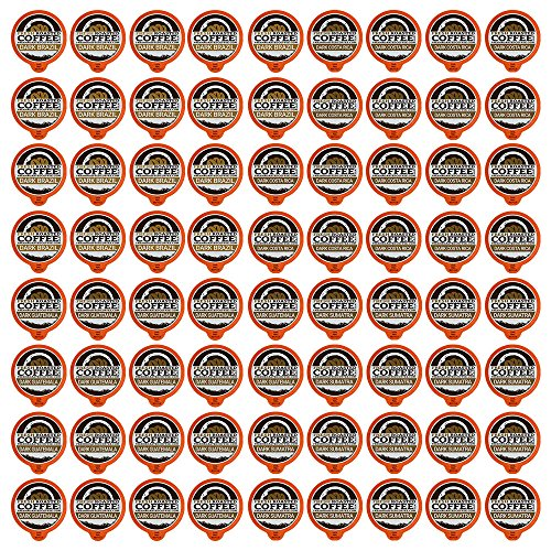 Dark Roast Single-Serve Coffee Pod Variety Pack, 72 Capsules for Keurig K-Cup Brewers, Fresh Roasted Coffee LLC. (72 Count) (Cup Bulk K Coffee)