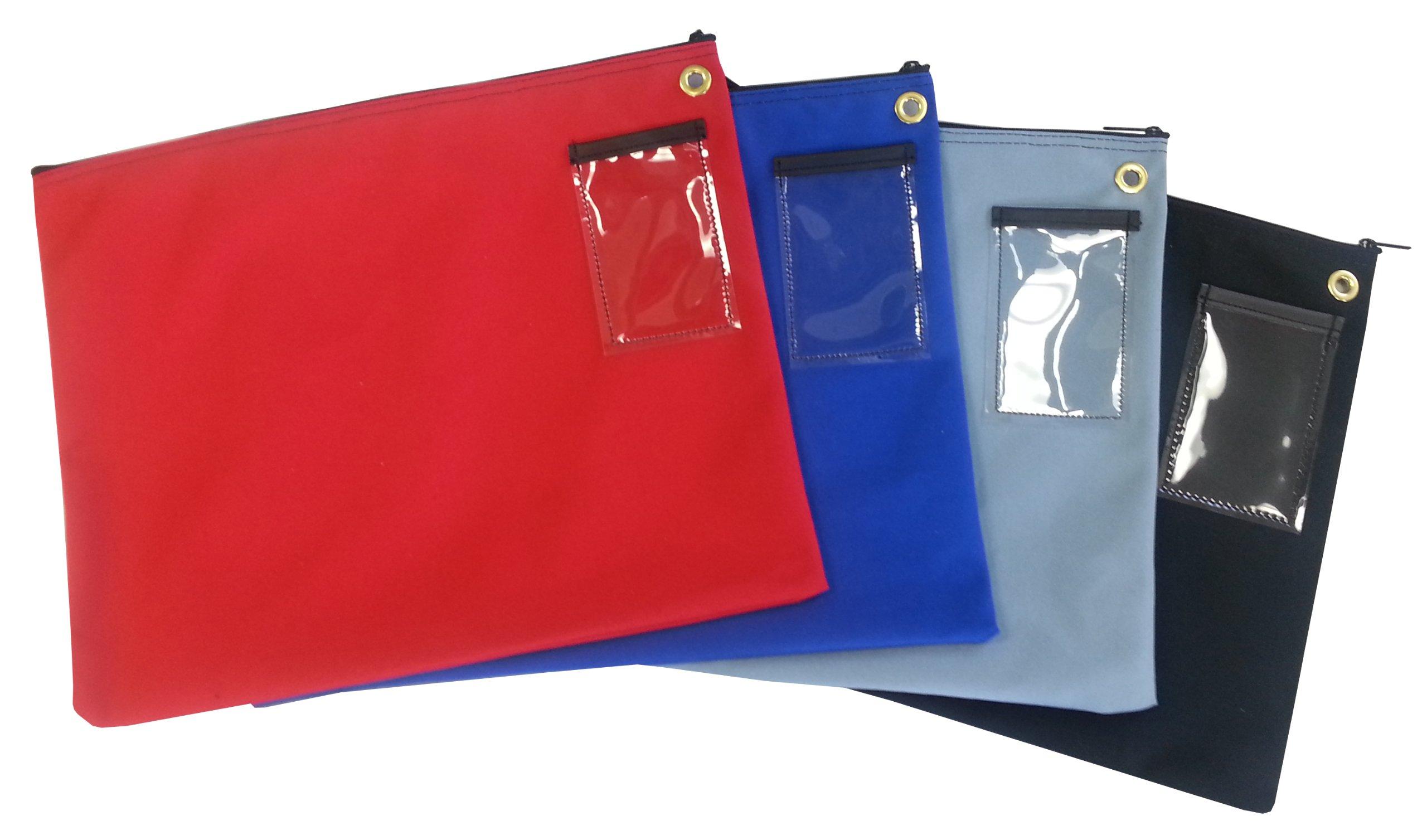 Interoffice Mailer Canvas Transit Sack Zipper Bag 18w x 14h Black by Cardinal Bag Supplies (Image #1)