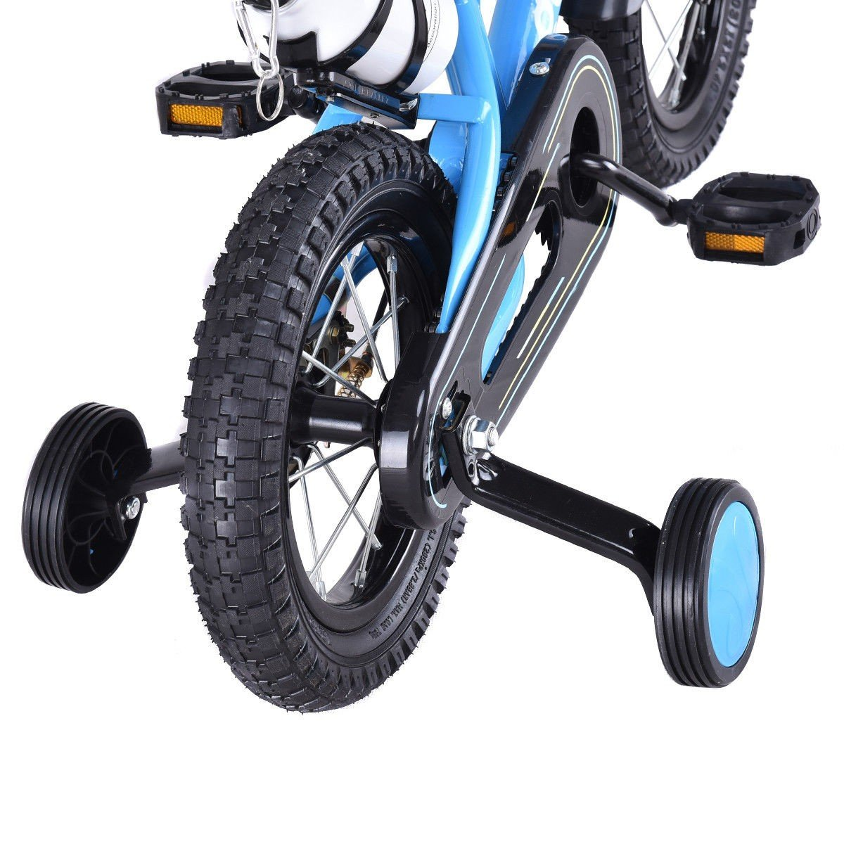 MD Group Kids Bicycle 20'' Adjustable Freestyle Boys & Girls Blue Metal w/ Training Wheels by MD Group (Image #6)