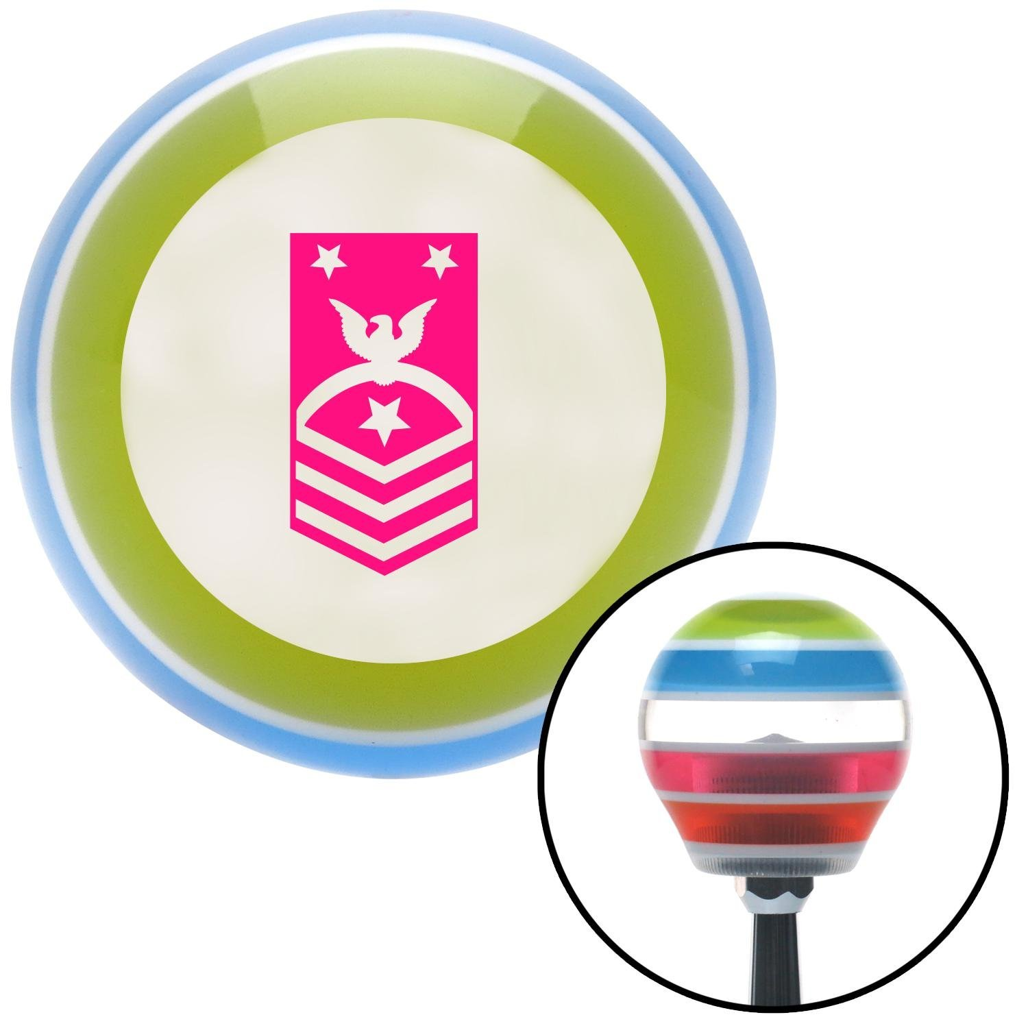 Pink Force or Fleet Command American Shifter 134947 Stripe Shift Knob with M16 x 1.5 Insert