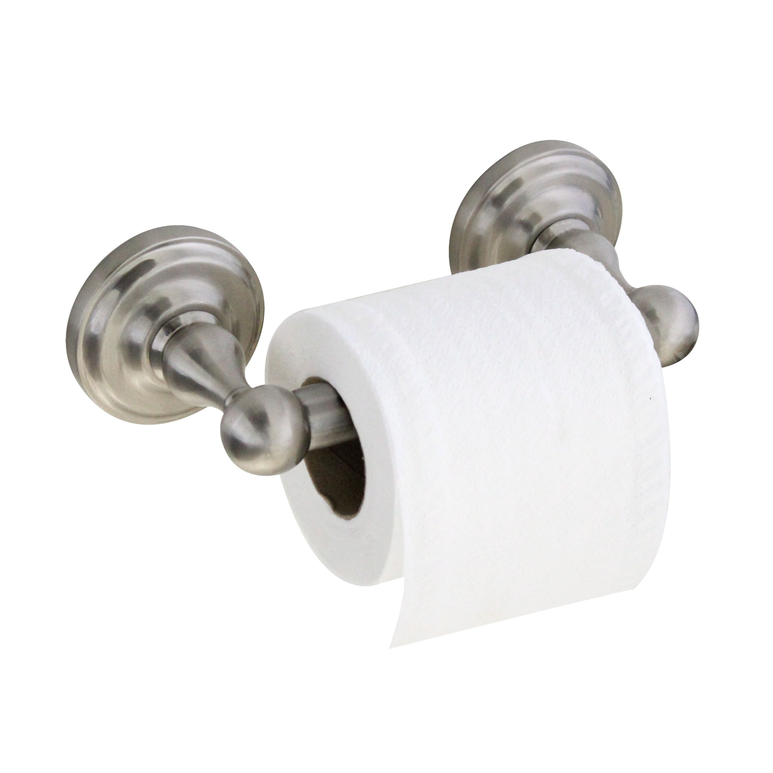 MODONA Toilet Paper Holder with Stainless Steel Roller - Satin Nickel - Viola Series - 5 Year Warrantee