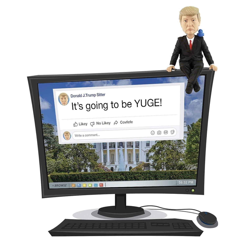 Computer Sitter Royal Bobbles Donald Trump Media Monitor Bobblehead