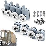 cococity Juego de 8 rodamientos para mampara de ducha, ruedas y ...