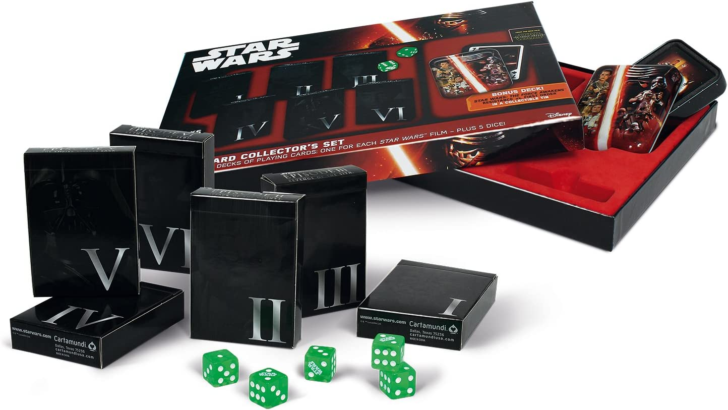 100182127 Coffret Collector Star Wars ASS Cartamundi 6 Jeux en Etui