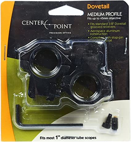 CenterPoint Full Size Two-Piece Medium Profile Integral Rifle Scope Mount for Airguns or Premium .22 Rifles