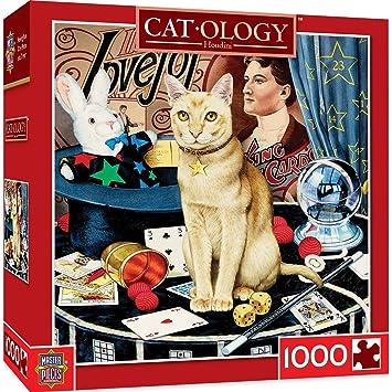MasterPieces Cat-O-Logy Houdini Jigsaw Puzzle, Art by Geoffrey Tristram, 1000-Piece