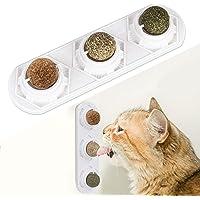 Peteast Juguetes de catnip, bolas comestibles de hierba gatera seguras y saludables, giratorio, para lamer golosinas…