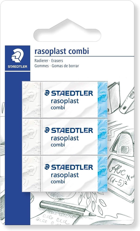 Staedtler - Goma de borrar, pack de 3: Amazon.es: Oficina y papelería