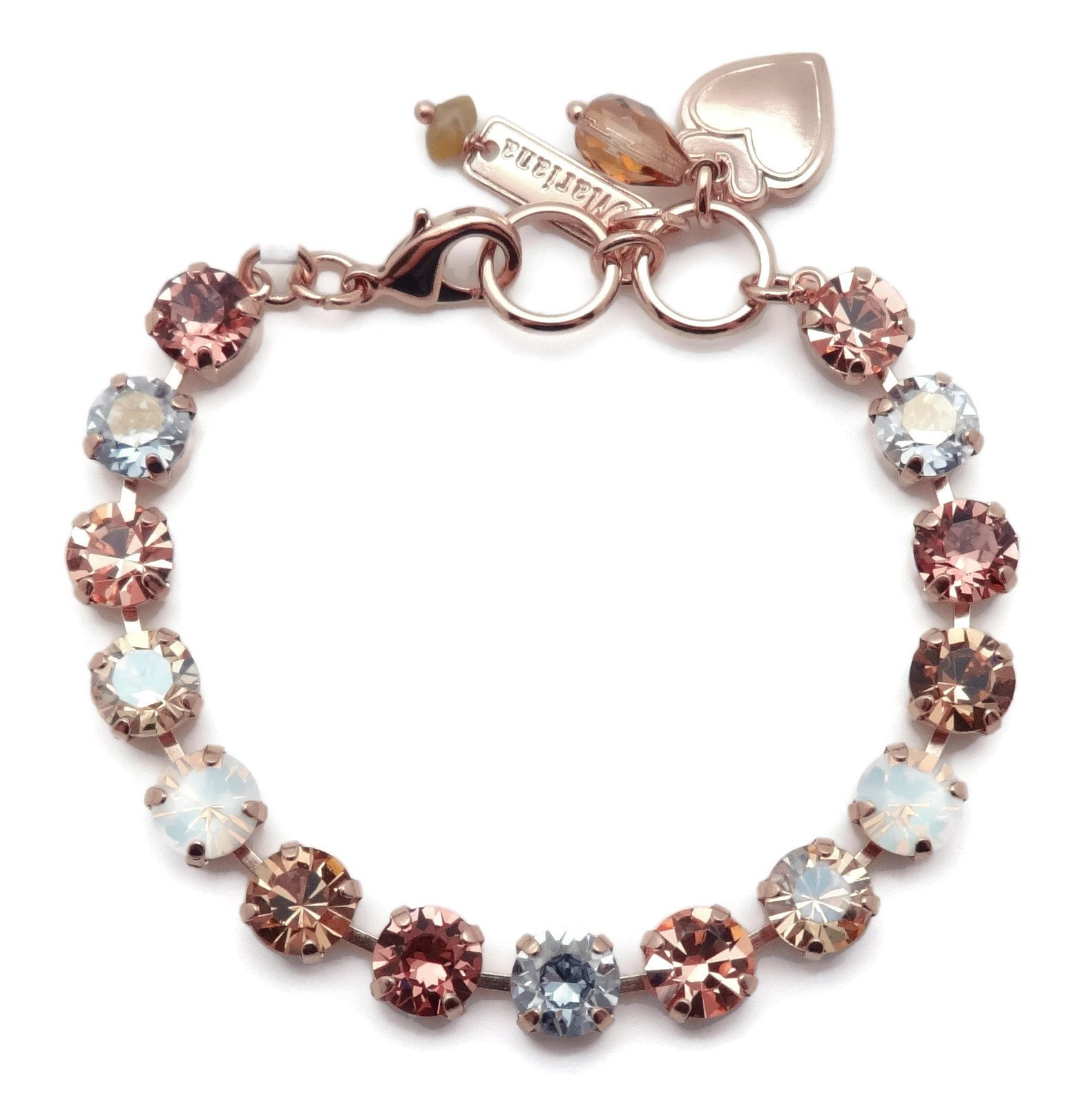 Mariana Crème Brûlée Swarovski Crystal Rose Goldtone Bracelet Brown White Rose Mix Bette 146 by Mariana