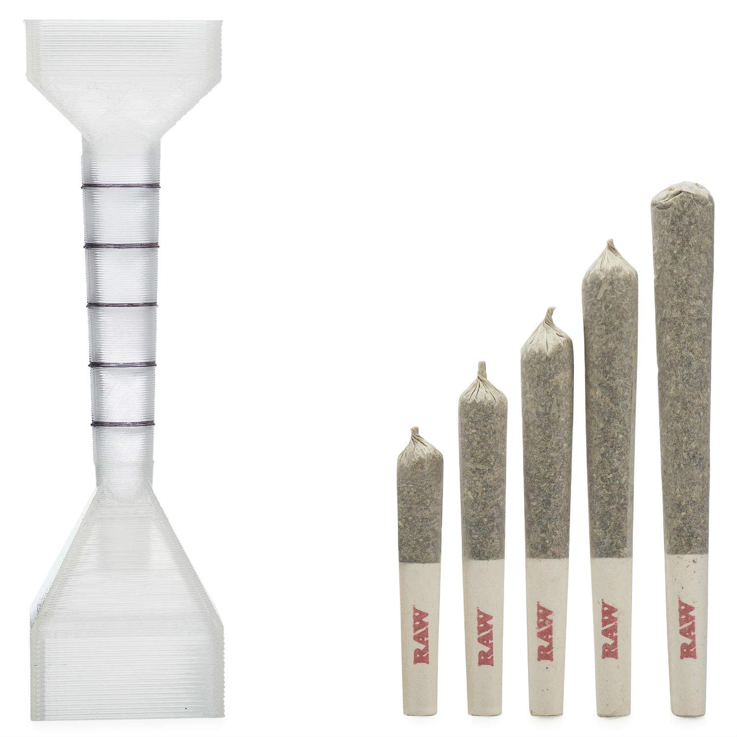 Cigarette Rolling Machine Loader Roller Filler. Made for RAW Cones Rolling Papers. Make Perfect Cigarettes. Includes: 20 Organic Hemp 1 1/4 RAW Cones (Pre Rolled) and Wooden Packing Stick. packNpuff by packNpuff