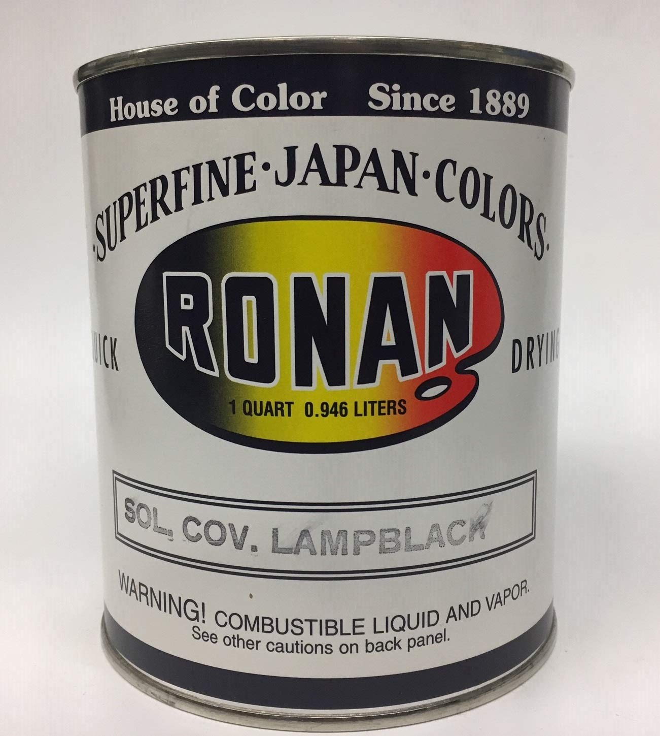 Japan Oil Color Solid Covering Lampblack (32 oz) by Ronan