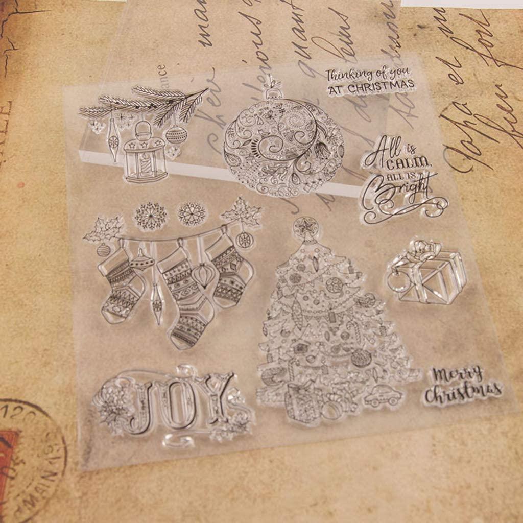 RUZYY Clear Stamps Clear Stamp Cling Seal DIY Scrapbook Embossing Album Decor Craft