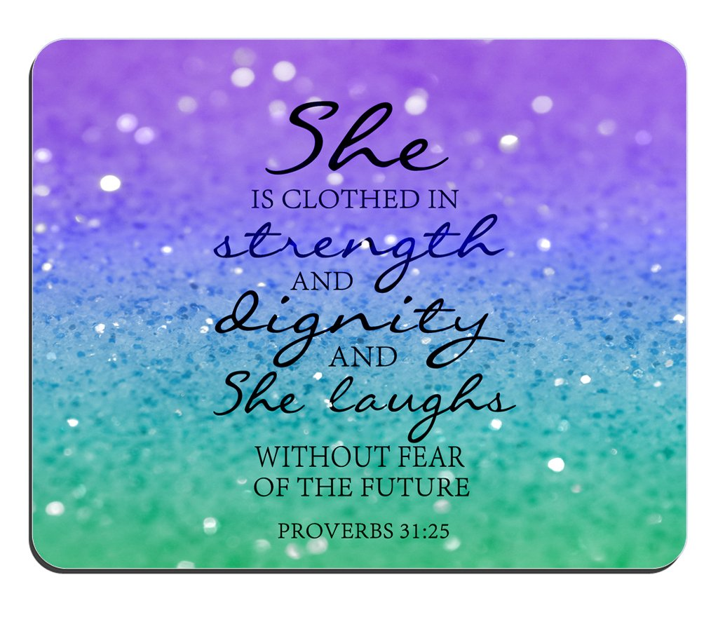 Amazon Christian Quotes Glitter Mouse Pad Bible Verse Proverbs
