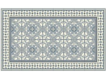 LILENO HOME Vinyl Teppich Küchenvorleger Badmatte Bodenmatte Kachel ...