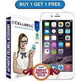 Cellbell Tempered Glass Screen Protector Bronze Edition For Iphone 6 6s, Transparent