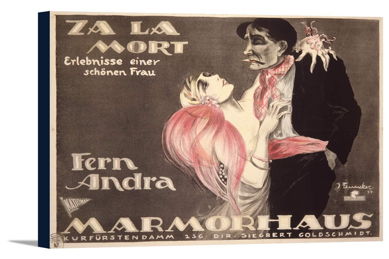 Za La Mortヴィンテージポスター(アーティスト: Fenneker )ドイツC。1924 18 x 12 Gallery Canvas LANT-3P-SC-74802-12x18 18 x 12 Gallery Canvas  B01EBQDUUU
