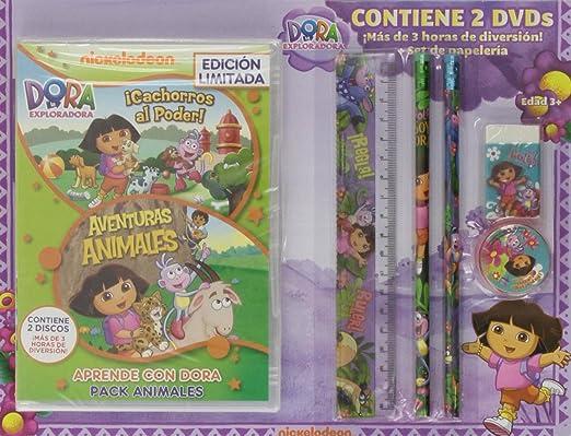 Pack: Dora, La Exploradora: Aventuras Animales + ¡Cachorros Al ...