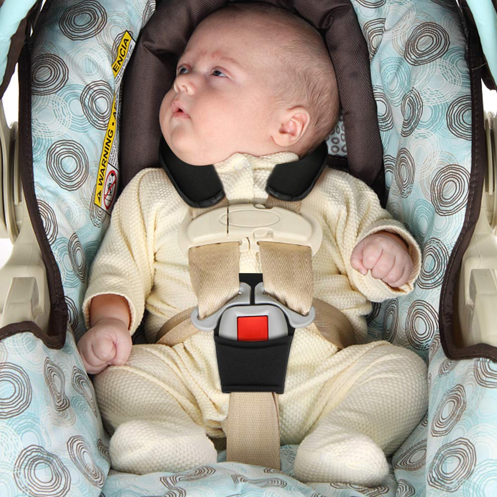 Baby Car Seat Strap Covers Suit By Accmor Stroller Belt Head Support Hip Shoulder Pads Black Holiday Gifts