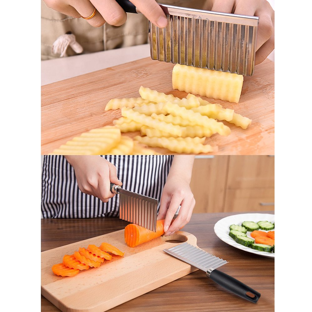 amazon com abtong crinkle cutter french fry cutter stainless steel