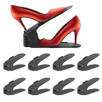 b984787b0351cf Réglable à chaussures,Rangement Chaussure pour Empiler les Chaussures  Réglable Organiseur de Plastique Économie D