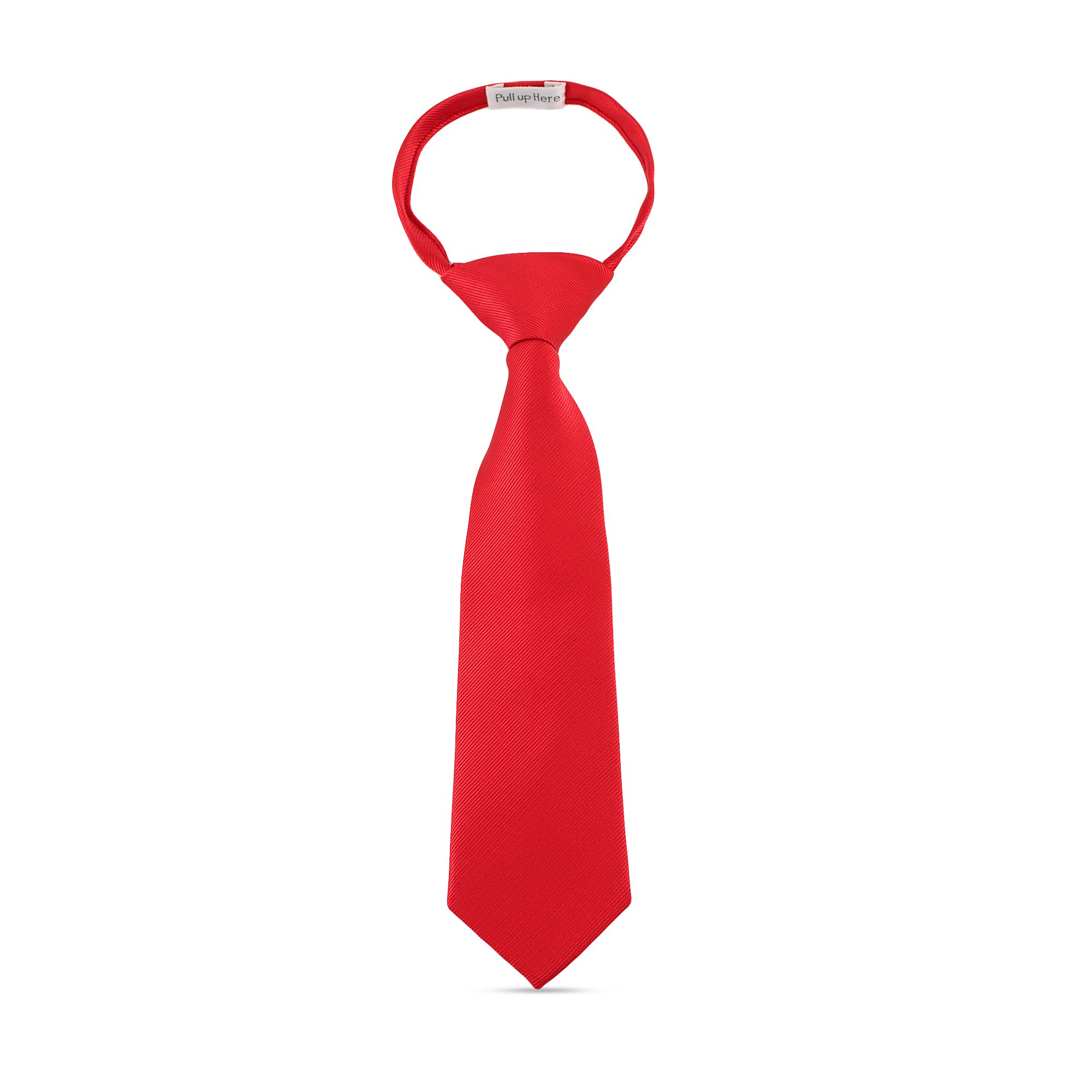 Handmade Zipper 11'' Ties For Boys Woven Boys Red Ties: For Kids Wedding Graduation