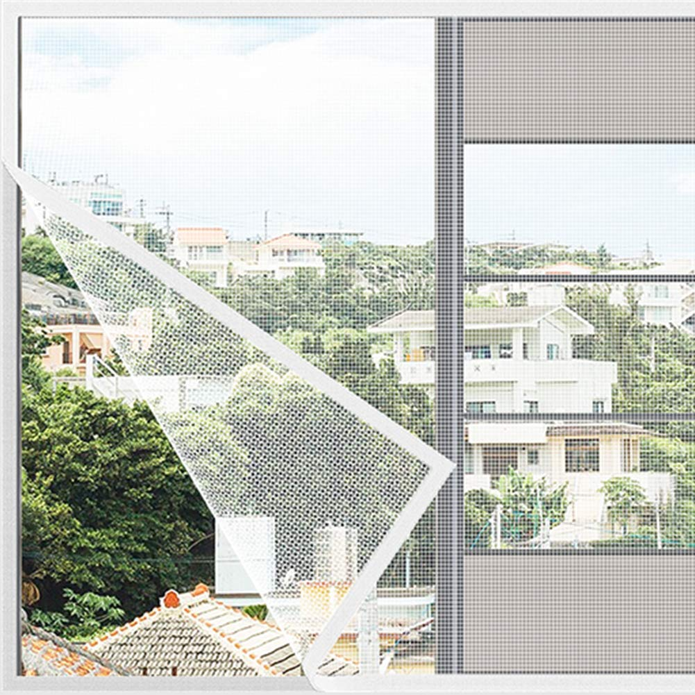 MJMZNDQ Self-Adhesive Window Screen Netting,Mosquito Window Netting,Easy to Install and Remove,Anti Mosquito Window net mesh Easy to Clean,Black White,White,180x170cm(71x67inch) by MJMZNDQ (Image #2)