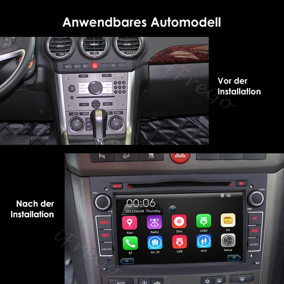 Ifrego Autoradio Für Opel Antara Astra Combo Corsa Meriva Vectra Zafira Vivaro 7 Zoll 2 Din Touchscreen Radio Autoradio Bluetooth Gps Navigation Autoradio Dvd Cd Windows Ce Autoradio Dab Schwarz Navigation