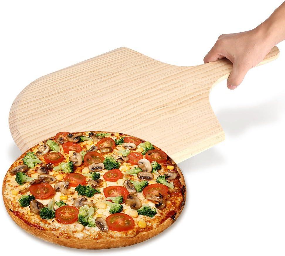 OKBY Peel Pizza Size : 12 inch 1214 Plateau en Bois avec Four /à cr/êpes pour en Bois