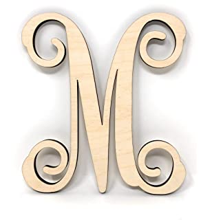 gocutouts 6 wooden letter m unfinished letters package of 2 letters wall decor monogram