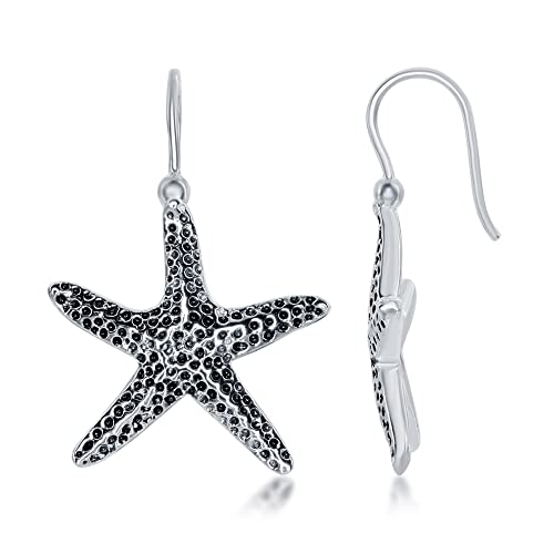 c8539cc48 Image Unavailable. Image not available for. Color: Sterling Silver Oxidized Starfish  Earrings