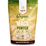 Organic Peruvian Raw Maca Powder   Nature's Perfect Superfood for Energy & Stamina   Great Source of Amino Acids, B Vitamins & Iron   Ideal for Smoothies, Breakfast & Desserts 300g