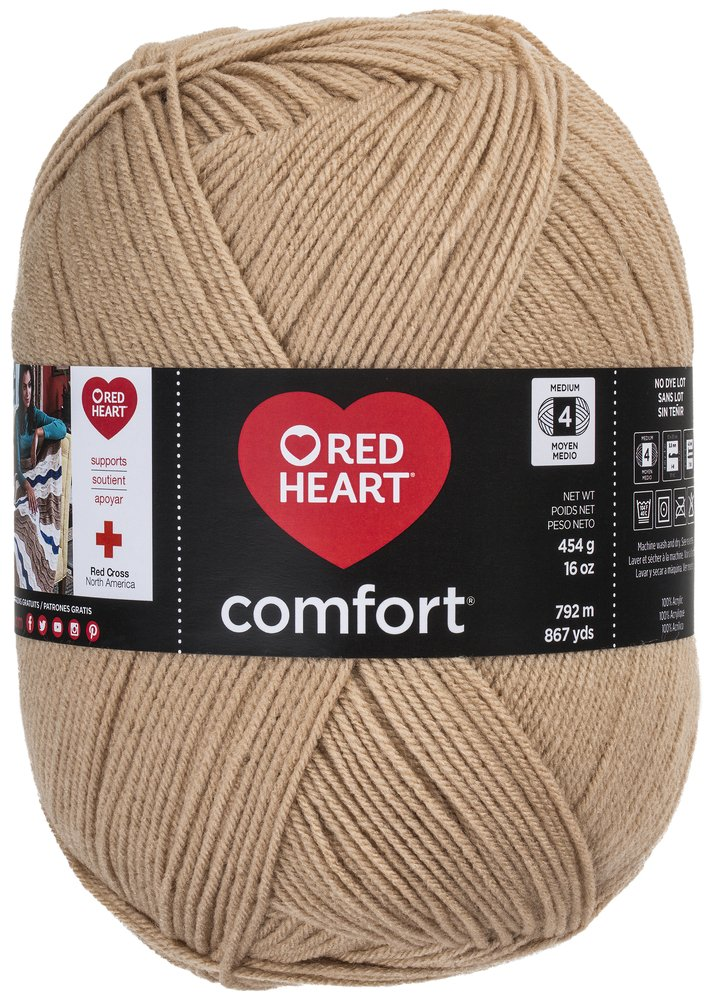 Coats: Yarn E707D-3167 Red Heart Comfort Yarn, Tan
