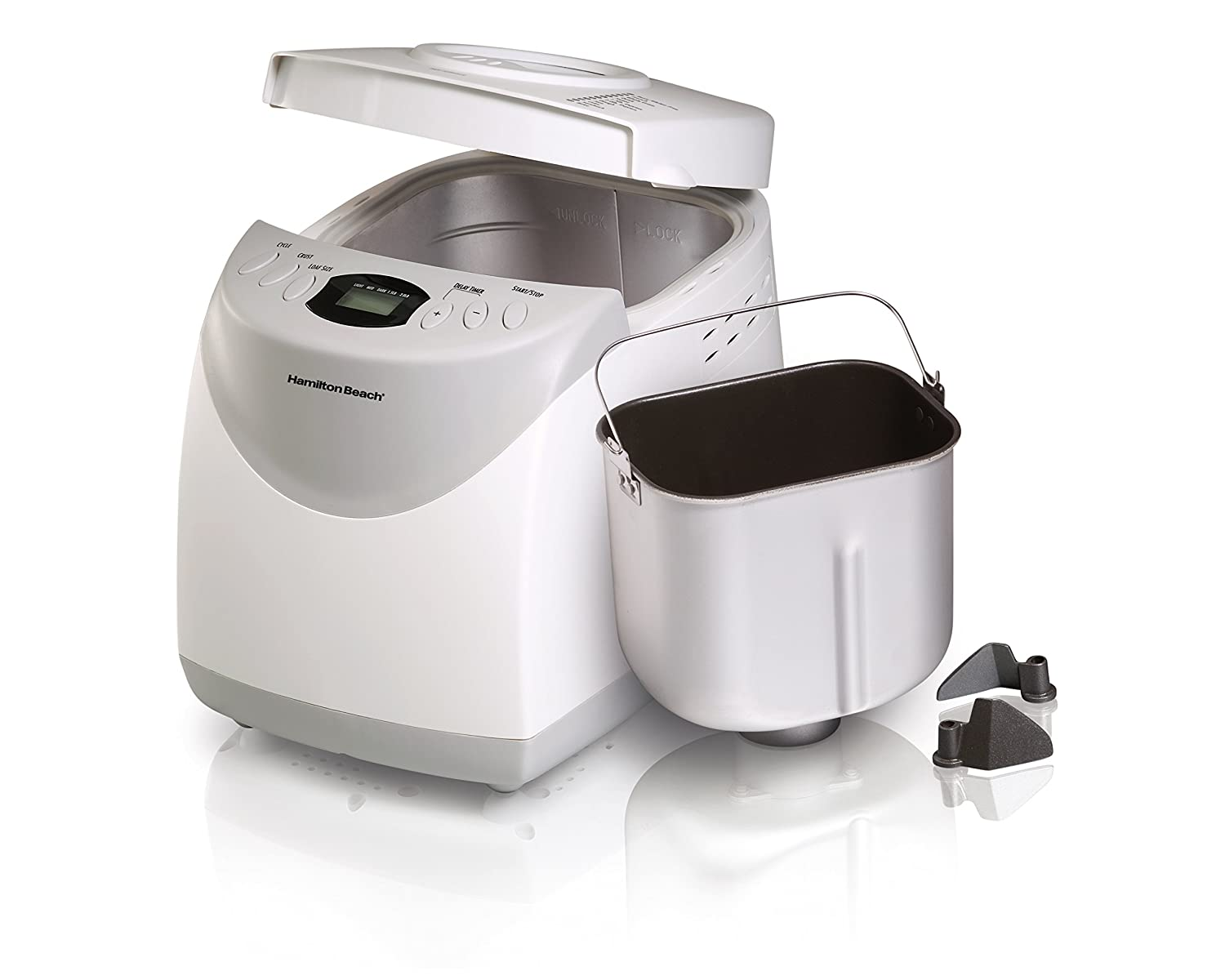 Hamilton Beach 29881 2-Pound Bread Maker, White (Discontinued